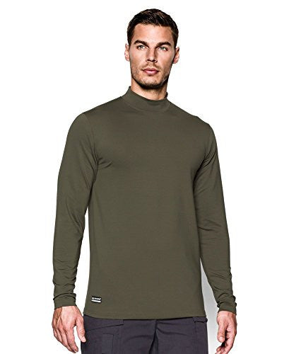UNDER ARMOUR UA Coldgear Infrared Tactical Fitted Mock Marine OD Green Large
