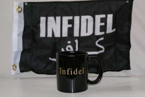 "Infidel Mug With Flag - 12""x18"""