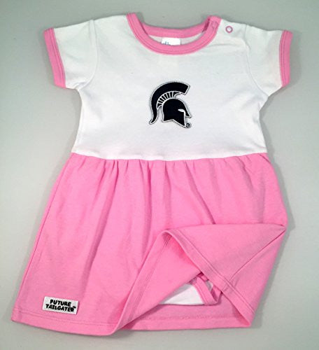 Michigan State Spartans Baby Onesie Dress (NB - 3 Months, Color Trim)