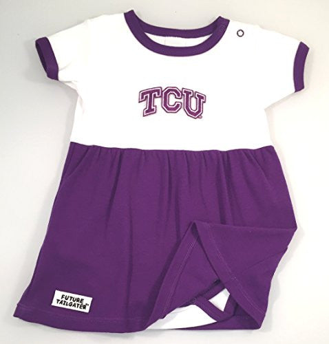 Texas Christian TCU Horned Frogs Baby Onesie Dress (NB -3 Months, Color Trim)