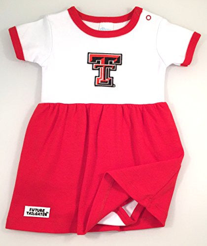 Texas Tech Red Raiders Baby Onesie Dress (NB - 3 Months, Color Trim)