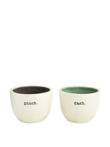 """Pinch"" + ""Dash"" Salt and Pepper Cellars, Set of 2"