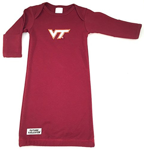 Virginia Tech Hokies Layette Gown (NB - 3 Months, School Color)