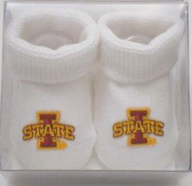 Iowa State Cyclones Boxed Baby Booties (NB - 3 Months, White)