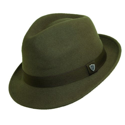 Dorfman Pacific Men's Wool Felt Snap Brim Hat (Khaki / Large)
