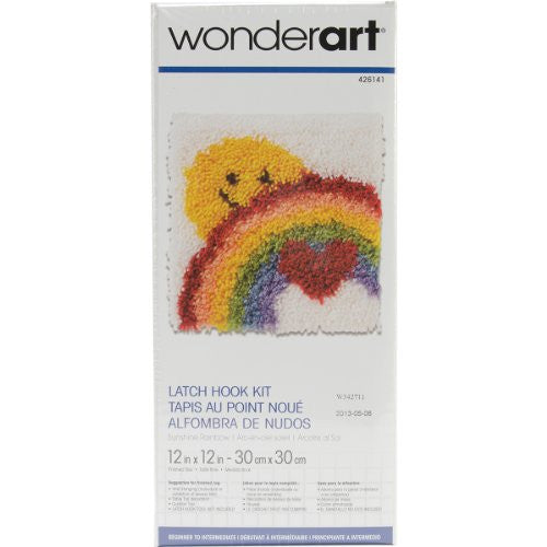 "Wonderart Latch Hook Kit 12""X12"", Sunshine Rainbow"
