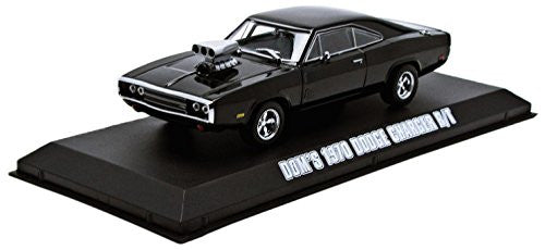 Greenlight Fast & Furious - Dom's Dodge Charger R/T Hard Top (1970, 1/43 scale diecast model car, Black)