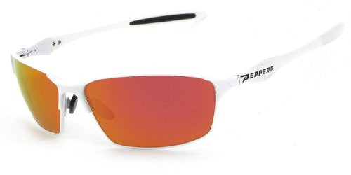 Nevada Matte White, Brown TAC-Tical Polarized w. Fire Red Mirror
