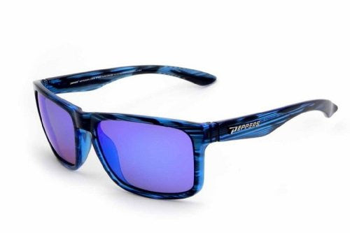 Sunset Blvd Double Blue Tortoise, Brown TAC-Tical Polarized w. Ice Blue Mirror
