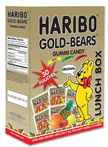 GOLD BEARS 10.6oz LUNCHBOX 12ct HARIBO - Package