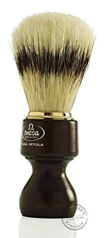 11126 Pure Bristle Shaving Brush, Wood Handle, Brown