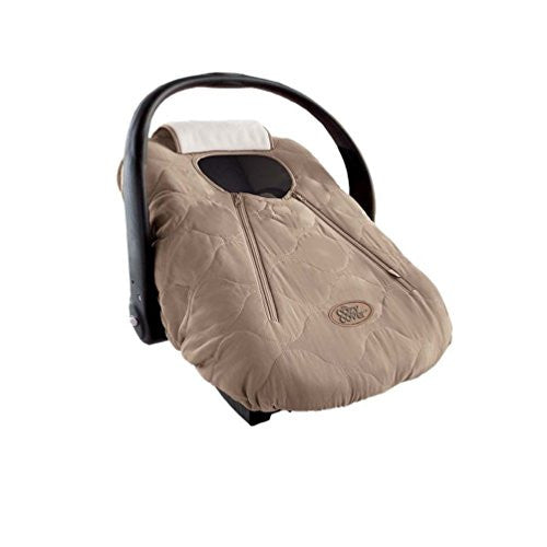 Cozy Cover (fall/winter car seat carrier cover) - Beige Quilt