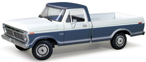 First Gear - Ford F-100 StyleSide Pickup Truck (1973, 1/25 scale diecast model car, Blue/ White)