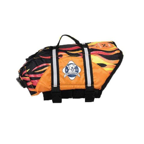 Designer Doggy Life Jacket Flames - X-Small
