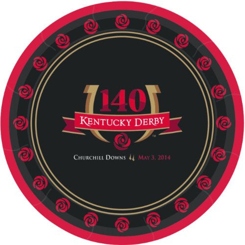 "Kentucky Derby 140 9"" Plates - Pkg"