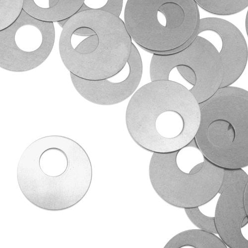 "Offset Washer, 1"", Stamping Blank - Aluminum, 20g (24pc)"
