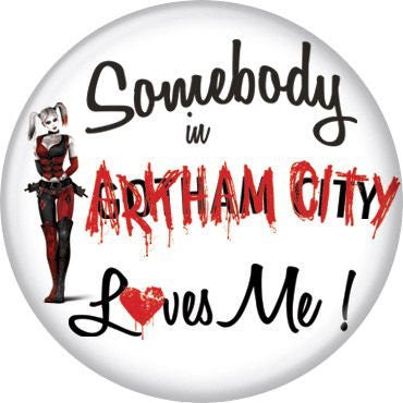 Harley Quinn Somebody Loves Me AC - BUTTONS 1 1/4 in. ROUND