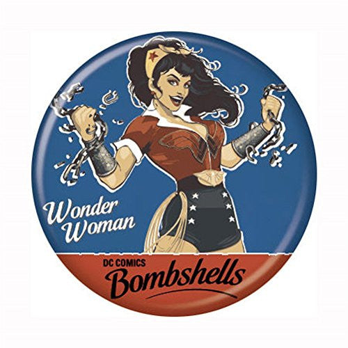 Wonder Woman Bombshell - BUTTONS 1 1/4 in. ROUND