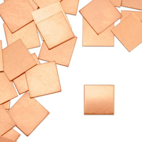"Square, 1/2""- Stamping Blank - Copper (24pc)"