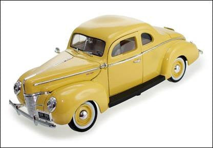 Motormax - Ford Deluxe Hard Top (1940, 1/18 scale diecast model car, Yellow)