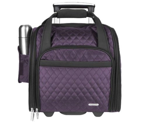Wheeled Underseat Carry-On with Back-Up Bag - Eggplant