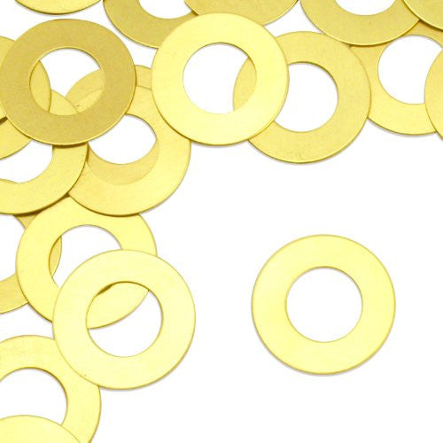 "Washer, 1""- Stamping Blank - Brass(24pc)"