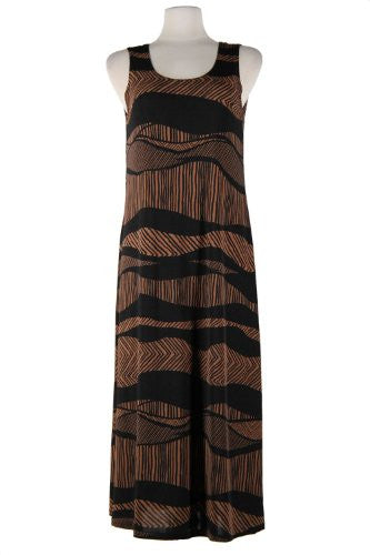 BNS Long Tank Dress Sleeveless - Brown, X-Large