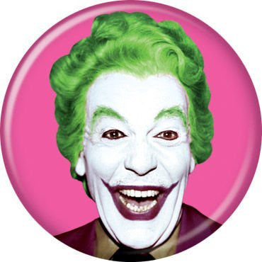 Batman TV Joker on Pink - BUTTONS 1 1/4 in. ROUND