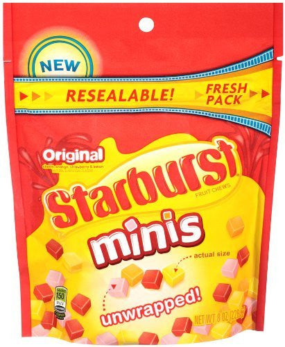 STARBURST MINIS 8oz SU POUCH 8ct STARBURST/WRIG - Package