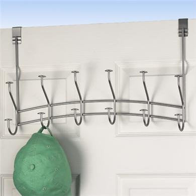 Windsor Over the Door 6-Hook Rack - Satin Nickel