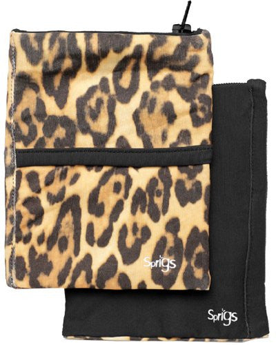2 Pocket Phone Banjees - Leopard/Black