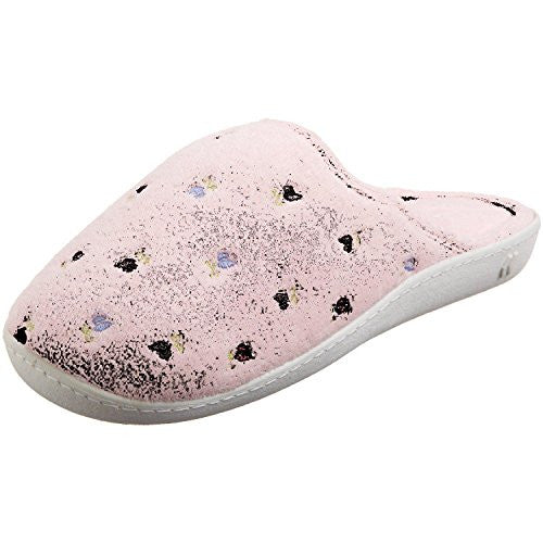 Embroidered Terry Secret Sole Clog, Pink, 7 1/2-8