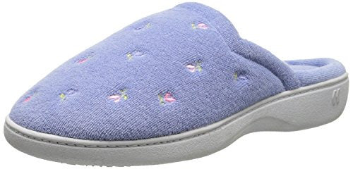 Embroidered Terry Secret Sole Clog, Periwinkle, 9 1/2-10
