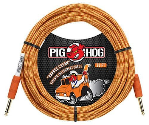 Generic - Pig Hog 20' Gtr Cbl Orange Crm