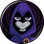 Teen Titans Raven BUTTONS 1 1/4 in. ROUND