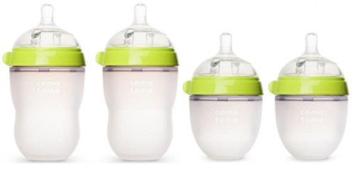 """Natural Feel"" Baby Bottle (Double Pack), 5 oz Green  ""Natural Feel"" Baby Bottle (Double Pack) 8 oz Green"