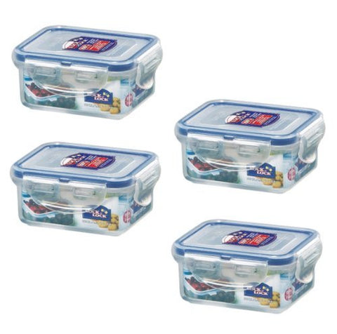 (Pack of 4) Lock&Lock, 6-Oz, BPA Free, 100% Water tight, Food Container, HPL805, 0.7-Cup