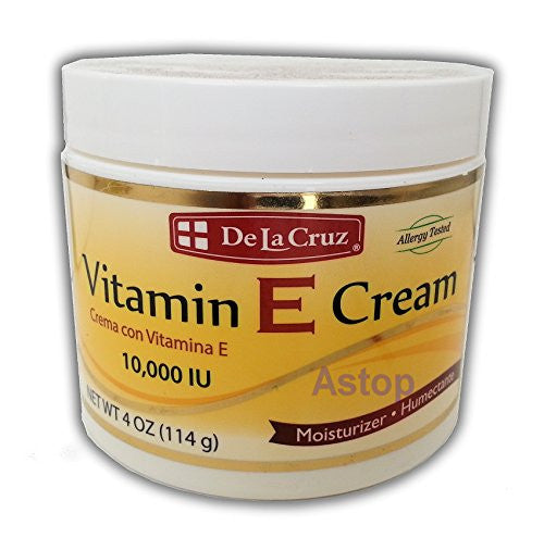 De La Cruz Vitamin E Cream 10,000 IU 4 oz