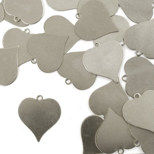 "Heart w/ Ring, 7/8""- Stamping Blank - Aluminum, 20g (24pc)"