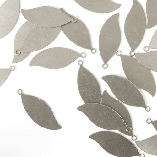 "Leaf w/ Ring, 1 1/16""- Stamping Blank - Aluminum, 20g (24pc)"