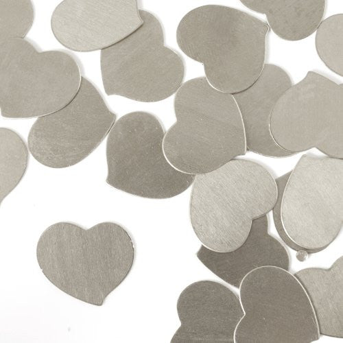"Swirly Heart, 3/4""- Stamping Blank - Aluminum, 20g(24pc)"