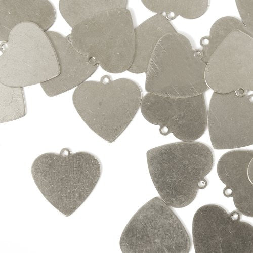 "Heart w/ Ring 5/8""- Stamping Blank - Aluminum, 20g(24pc)"