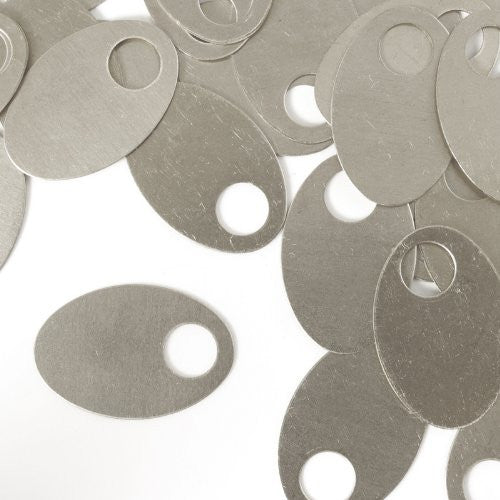 "Oval Washer, 1 1/4""- Stamping Blank - Aluminum, 20g (24pc)"
