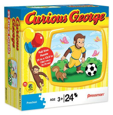 Curious GeorgeTM with Soccer Ball 24 pc Puzzle 10760