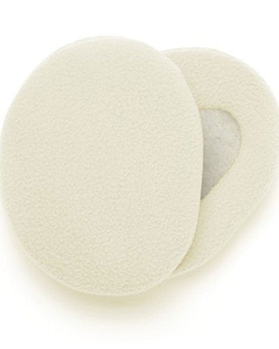 Earbags Bandless Fleece Ear Warmers,Medium,Cream.Cream