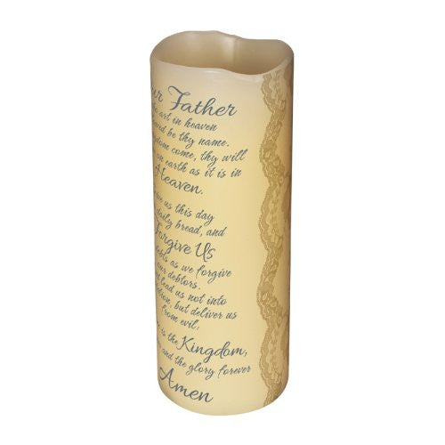 "Abiding Light Scented Flameless Candles ""Lord's Prayers"""