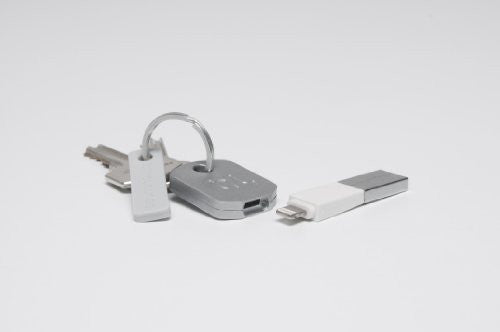 Kii Keychain Lightning Connector Charger for iPhone/iPod/iPad - White