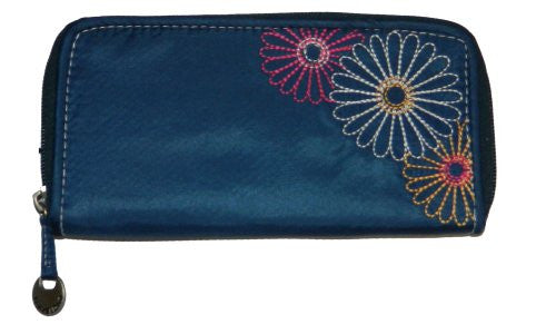 Safe ID Daisy Ladies Wallet - Navy
