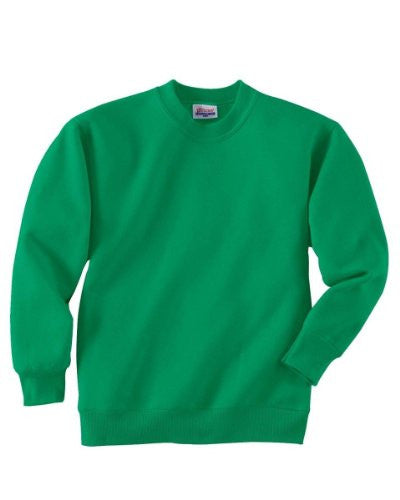 Hanes Youth ComfortBlend Long Sleeve Fleece Crew - p360 (Kelly Green / X-Small)