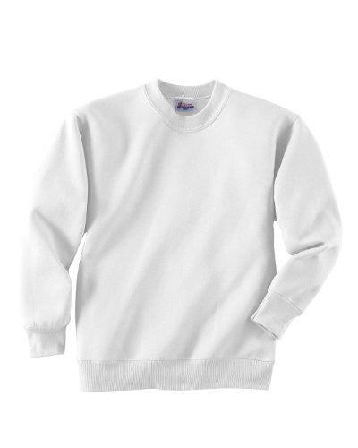 Hanes Youth ComfortBlend Long Sleeve Fleece Crew - p360 (White / Medium)